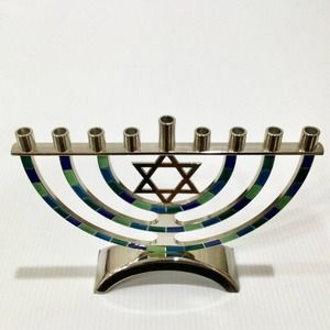 Menorah Candleholder Metal Hanukkah Home Decor